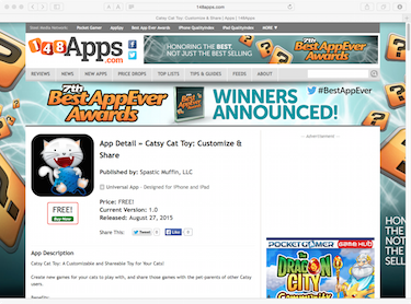 Catsy on 148 Apps Web Page