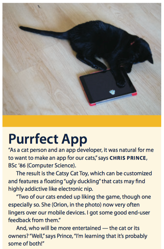 UVic Torch Magazine Piece on Catsy Cat Toy